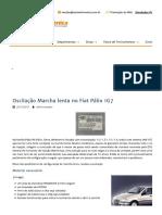 Oscilação Marcha Lenta No Fiat Pálio 1G7