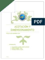 Acotación o Dimensionamiento