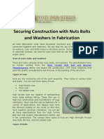 Securing Construction With Nuts Bolts