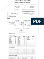 Chemistry Short Notes Form 4