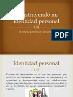 construyendo mi identidad personal-