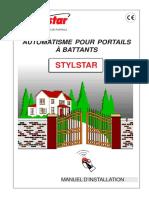 Manual Automat Deschidere Poarta Luncastylstar-manuel-Installation