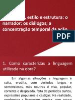 Síntese 28 Amor Perdição Linguagem estilo estrutura.pptx