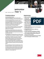 PeltorX Serie Datenblatt