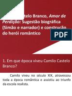 Síntese 26 Amor Perdição Sugestão Biográfica Construção Do Herói Romântico