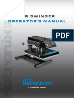 Hotronix Air Swinger Press Operators Manual
