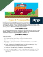project 4  professional portfolio  assignment sheet