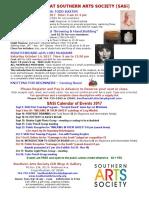 Sasi Classes Events Sept Oct 2017