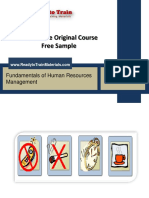 HRM - Human Resources Management Training Materials Free Sample