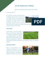 5 Tipos de Pases de Fútbol