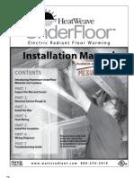 Watts Radiant HeatWeave Under Floor Manual-En-20080501