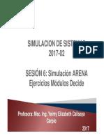 Simulacion Sistemas Semestre 8 - Sesion 6