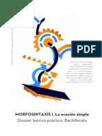 Dossier Morfosintaxis Bachillerato. La Oración Simple