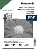 Panasonic-Video Cam PVGS19 Manual
