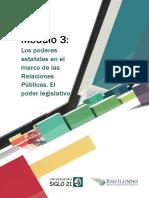 M3_L1_Los Poderes Estatales en El Marco de Las Relaciones Públicas. El Poder Legislativo