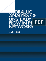 Hydraulic Analysis of Unsteady Flow in Pipe Networks