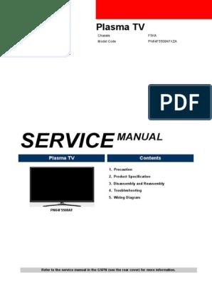 Samsung Pn64f5500afxza | Electrostatic Discharge