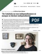 Roca Barea ME (2017) De Cataluña no nos independizamos ni aunque se declare independiente