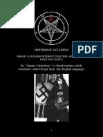 Orthodox Satanism - Proof