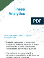 Business ANalytics- Logistic Regression