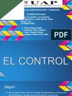 Diapositiva de Administración El Control y Procesos
