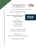 Residencia Profecional-Reporte Tecnico- Rafael José Centeno Santana