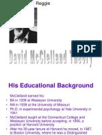 McClelland's Three-Needs Theory