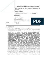 Atestado Fe Publica Falsificacion de Documento Cartagena Ludeña