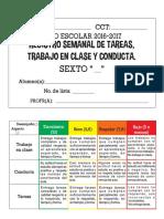 Registro de Tareas y ConductaSEXTO
