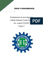 COHERENCIA Y CONCORDANCIA Fundamentos de Investigacion