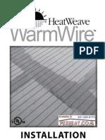 Watts Radiant HeatWeave WarmWire Manual