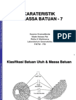 15 - TA3111 Karakteristik Massa Batuan