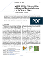 Researchpaper Application of ASTER DEM in Watershed Management as Flood Zonation Mapping in Koyana River of the Western Ghats