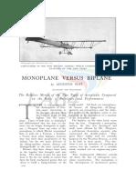Monoplane vs Biplane