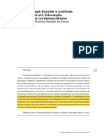 Psicologia Escolar e Políticas Públicas Em Educação Desafios Contemporâneos