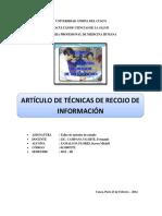 Med-zamalloa Flores Karen Michell- Artículo de Las Técnicas e Inrstrumentos de Recojo de Información