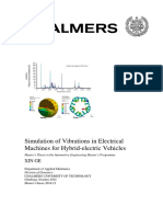 Simulation of Vibrations in Electrical Machines for Hybrid-electric Vehicles