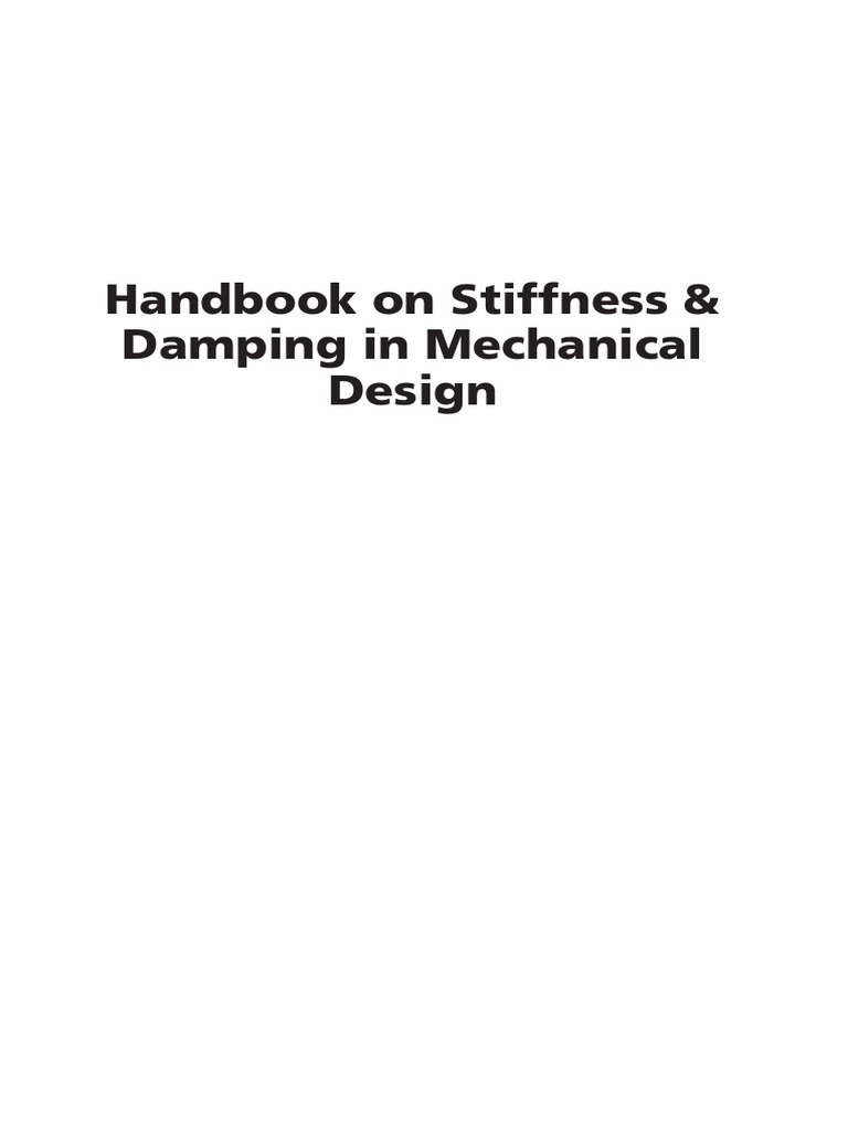 Eugene I Rivin 2 Handbook On Stiffness Damping In Mechanical View Schematic Gear Box R60 And Installation Industrial Gearbox 1 Design Beam Structure