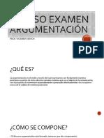 REPASO EXAMEN ARGUMENTACIÓN