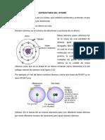 Estrctura de Atomo y Teoria Atomica