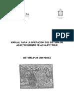 Manual de operación de agua potable (Linea por gravedad)