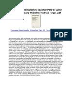 Enciclopedia Filosofica Para El Curso Superior