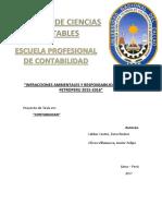 Impuesto Ambiental y Responsabilidad Social de Petroperu Periodo 2015
