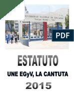 Estatuto de La Une Egyv, La Cantuta, 2015