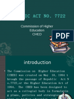 Republic Act No. 7722 or the Higher Education Act of 1994.odp