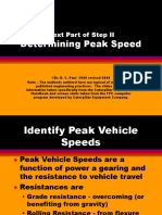 Determining Peak Speeds
