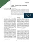 Methodology and Metrics for Assessing