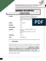 Memoria Descriptiva 2012