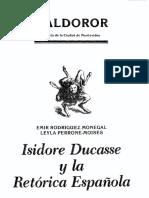 17.Isidore Ducasse y La Retorica Espanola