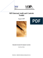 Toolkit for MFI Internal Audit and Controls[1]